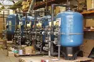 Five vessel frontal manifold system in production MM filter GAC filter Organic scavenger duplex softener