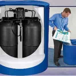 Big Blue Dualflo Non-Electric twin tank water softener