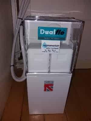 Harvey's Dualflo non-electric twin tank water softener