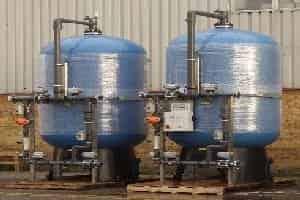 Industrial duplex water softener plant